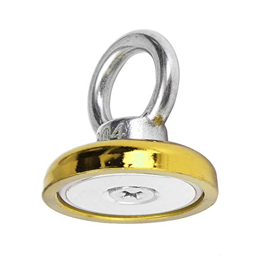 1pc 50 kg imán de neodimio de recuperación rojo/amarillo/azul Eyebolt gancho imán detector de metales 36X30mm Para las operaciones de salvamento Gold