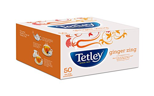 Tetley Flavour Tea Bags Ginger 50s (100gm)