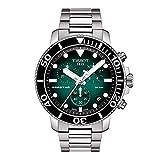 Tissot Seastar 660/1000 Correa de acero inoxidable de cuarzo suizo, gris, 22 reloj casual (Modelo: T1204171109101)