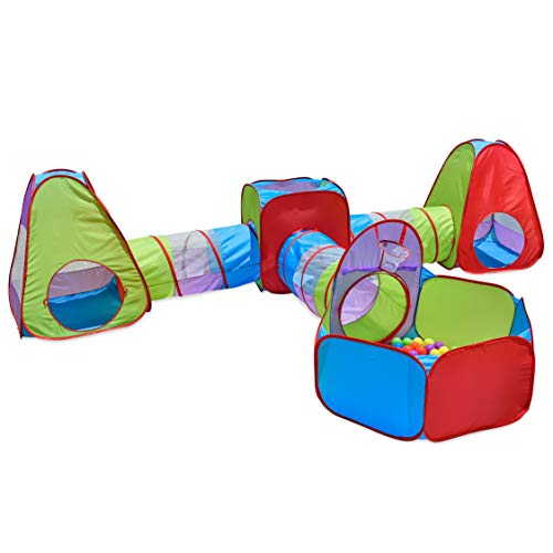 7 Piece Pop Up Tent with Bonus Play Balls Indoor Playhouse Toy Gift...