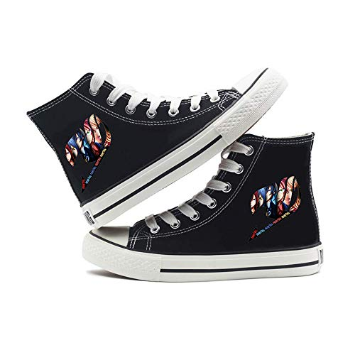 Fairy Tail Zapatos Zapatos de Las Mujeres Nuevo Diario de otoño e Invierno Zapatos Casual cómodo Lona de la Manera Deportes de Alto-Top de los Hombres de Tendencia Zapatillas