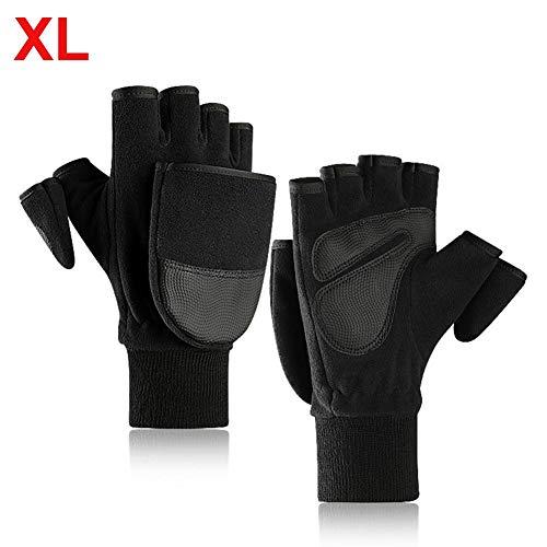 Männer Touchscreen Warme Handschuhe Mit Flip Cover, 2019 Neue Fleecefutter Winter Handwärmer Kaltwetterhandschuhe, Outdoor Velvet Fotografie Handschuhe