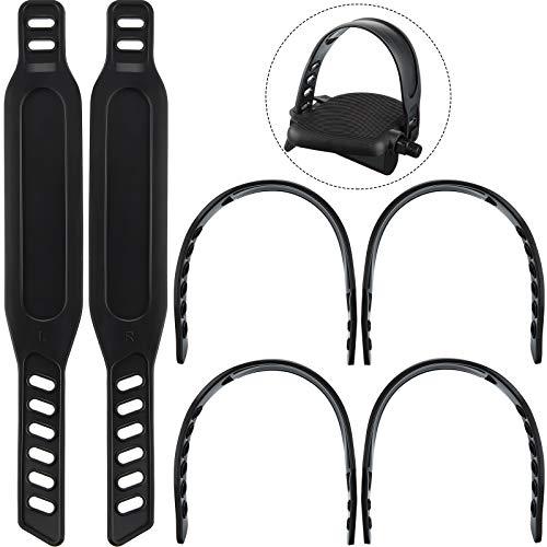 Boao 6 Packungen Gummi Pedal Gurte Heimtrainer Pedal Gurte Fuß Pedal Gurte zum Spinnen von Heimtrainer Fahrrad Rädern für zu Hause oder Fitness Studio