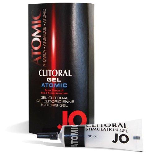 JO Atomic Clitoral Gel - Warming - Stimulant (Silicone-Based) 0.34 fl oz / 10 ml