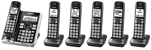 Panasonic KX-TGF575S Plus One KX-TGFA51B Handset Link2Cell BluetoothCordless Phone with Voice Assist and Answering Machine - 6 Handsets (Renewed)