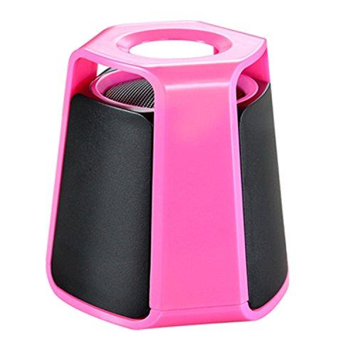 H&M 3 Zoll drahtloser Bluetooth Lautsprecher, Art und Weise Mini Streamline 3.0 Bluetooth Lautsprecher Portable Lautsprecher Active Subwoofer Auto Bluetooth Lautsprecher , Pink