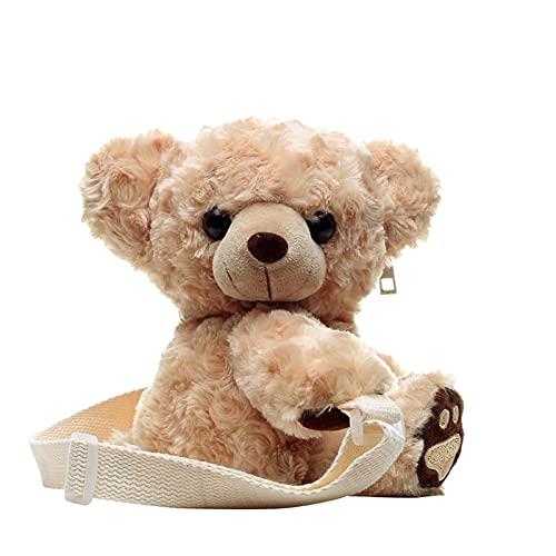 LINLIN Neue Ankunft Nette Kinder Schultasche Teddybär Plüsch Rucksack Für Frau Kindergarten Kinder Haspe Baby Taschen Spielzeug Sally (Color : Fluorescent Green)