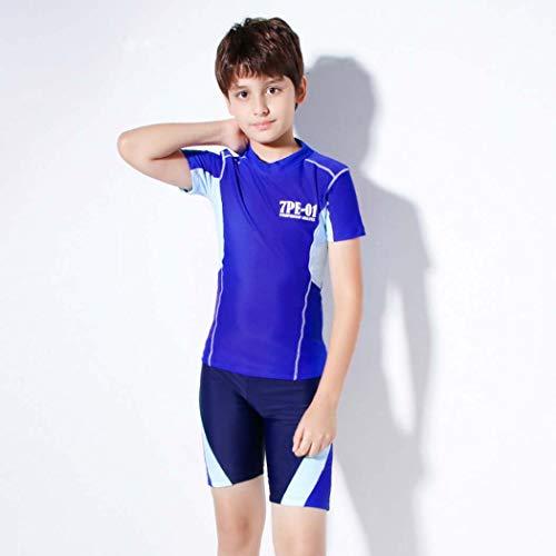 LYF Boy - Traje de baño cómodo con protector solar UV para niños, de secado rápido, tejido de alta elasticidad, traje de playa, XXXL