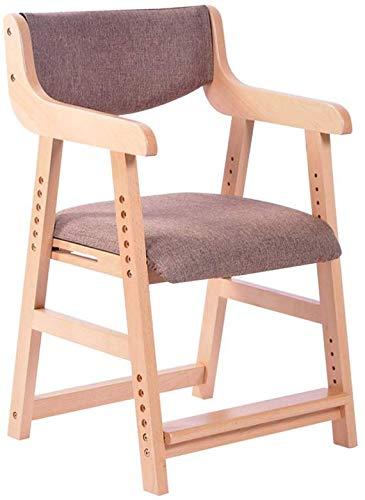 YLCJ stoel gekleurde stoelen, bureaustoel voor kinderen student in massief hout stapelbaar, verstelbare hoogte 43-54 cm (kleur: n. 1) #3