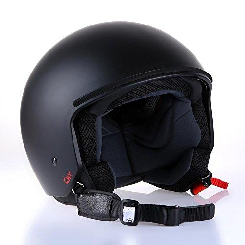 Motorradhelm Jethelm Rollerhelm CMX Joey matt schwarz in Größe M