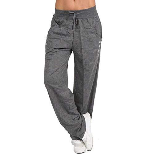 N\P Pantalones casuales sueltos para mujer, pantalones de entrenamiento, pantalones deportivos, ropa deportiva de fitness con cordón