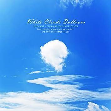 하얀 구름 풍선