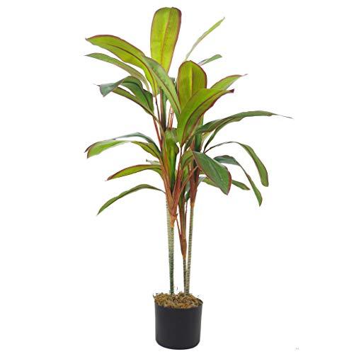 Dracaena - Pianta tropicale artificiale in vaso, 100 cm