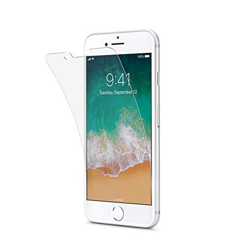 Tech21 Impact Shield Self Heal Bildschirmschutzfolie Selbstheilend Widerstandsfähig Schlagfest Stoßfest für Apple iPhone 7 - Transparent