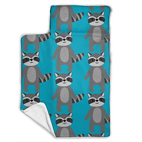 WENBO Raccoon Sleeping Bag, Kids Nap Mat, Soft Lightweight Mats, Children¡¯s Sleeping Bag, Toddler Nap Mat 43X21 INCH
