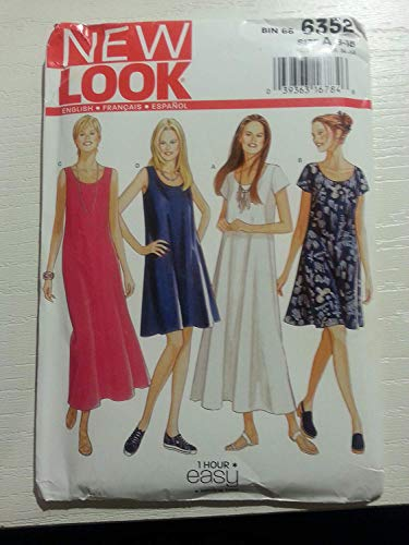 New Look Sewing Pattern 6352 Misses Dresses Size A 81012141618