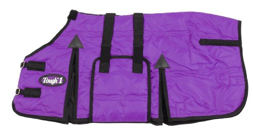 Tough 1 600D Miniature Stable Blanket with Belly Wrap, Purple, 51-Inch