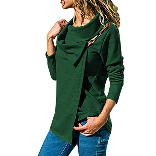 Darringls Magliette Manica Lunga Donna Camicia Elegante Tops Tumblr T-Shirt Taglie Forti Donna Maglie Maglietta Camicetta Donna a Collo V Blusa Felpa Camica Taglia S-3XL