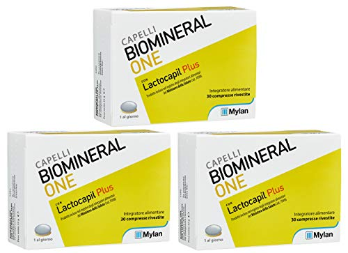 Offerta Biomineral One - 3X Integratore con Lactocapil Plus da 30 Cpr (90 Cpr)