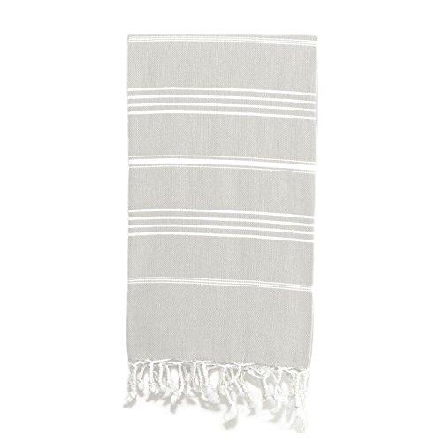 Linum Home Textiles Lucky Fouta/Serviette Fouta, Gris, None