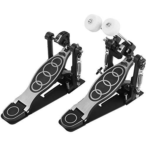 GAESHOW Drums Pedal Contrabajo Dual Foot Kick Percussion Drum Set Accesorios Acero