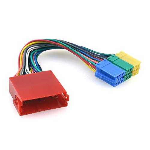 Mini-ISO (8-Pin) Blockadapter kompatibel mit Audi, VW, Skoda & Seat