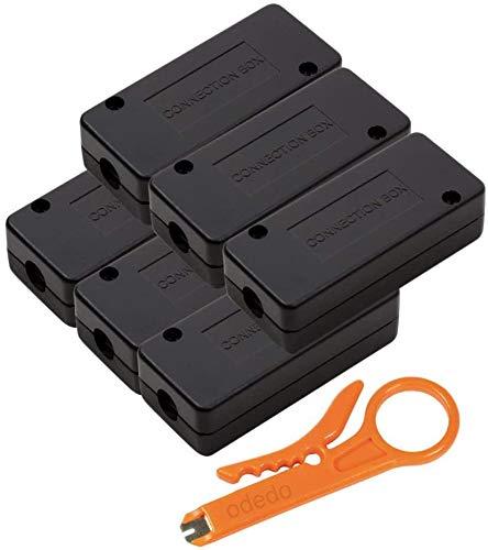 odedo Set LSA modulo di collegamento con attrezzi per Cat 5, Cat 6, Cat 6A, Cat 7, connettori LSA per riparare, estendere cavi di rete e cavi di posa, Connection Box, metallizzato (6)