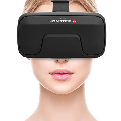 Irusu Monster vr Headset with in Built Touch Button for vr Supported mobiles(New Model) (Black)