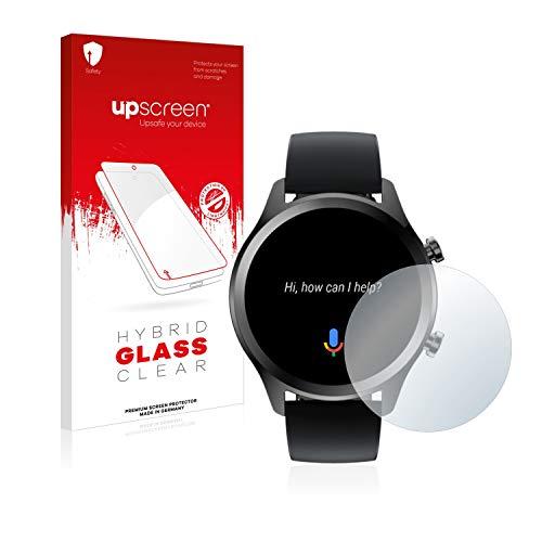 upscreen Hybrid Glass Panzerglas Schutzfolie kompatibel mit Mobvoi Ticwatch C2 Plus 9H Panzerglas-Folie