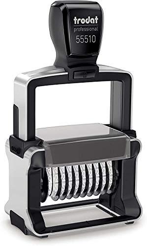 Trodat Professional 55510 Nummernstempel 10 Bänder, Selbstfärbend, 5 mm Schrifthöhe, Abdruck schwarz