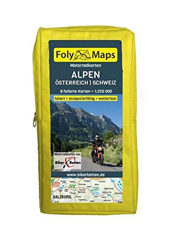 FolyMaps Motorradkarten Alpen Österreich Schweiz: 1:250 000
