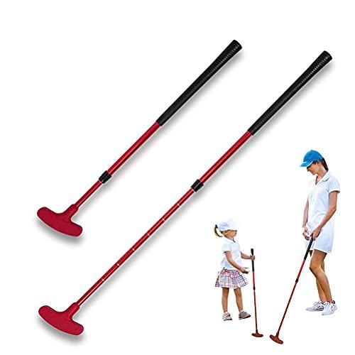 Tablecloth 2 Stück Kinder Golf-Putter – Junior Golf Putter Kinder Golfschläger Putter Silikon Kopf Golfschläger Zwei-Wege-Putter für Kinder und Erwachsene