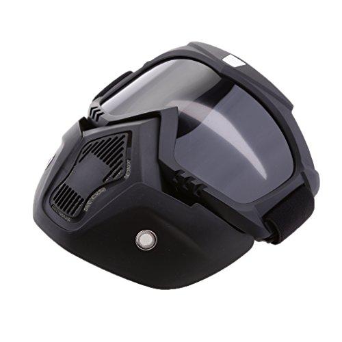 Casco con Máscara Gafas Regalo de Motorista Piezas para Motocicleta - Humo