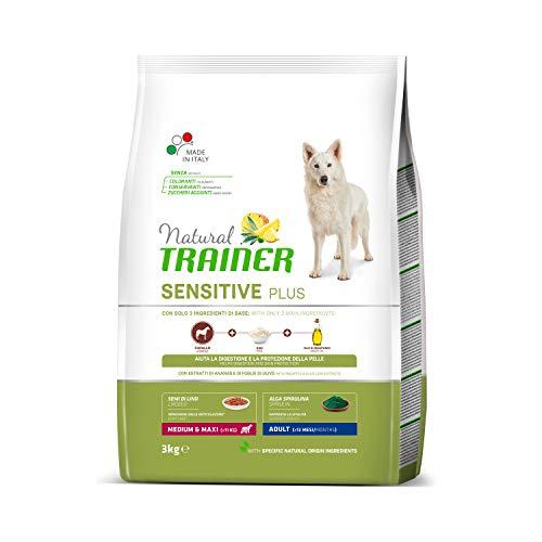 Natural Trainer Sensitive Plus - Pienso para Perros Medium-Maxi Adult con Caballo y Arroz - 3kg