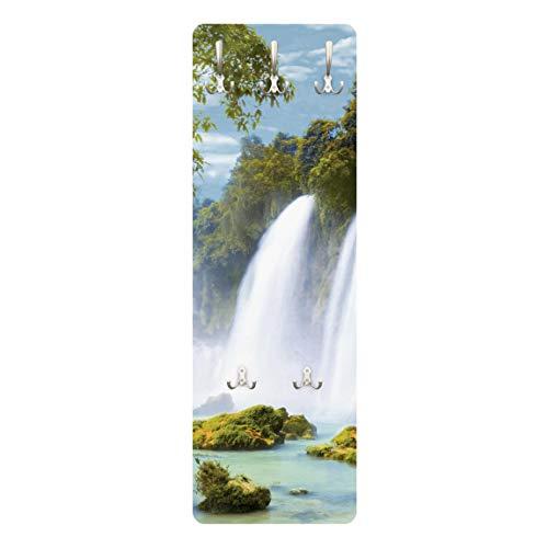 Bilderwelten Perchero Panel Mural Juego De Ganchos Gancho De Pared - Amazon Waters 139 x 46cm