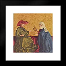King Solomon and The Queen of Sheba 15x15 Framed Art Print by Konrad Witz