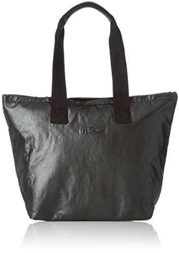 Kipling NIAMH Bolso para Almuerzo, Metallic Black (Negro)