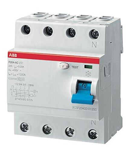 ABB F204 A 25A 30MA INTERR.DIFFERENZ. PURO 4P
