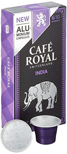 Café Royal 50 India Single Origin Nespresso (R)* kompatible Kapseln aus Aluminium - Intensität 6/10 - 50 Kaffeekapseln (5 x 10 Pack) - UTZ - Kompatibel mit Nespresso (R)* Kaffeemaschinen