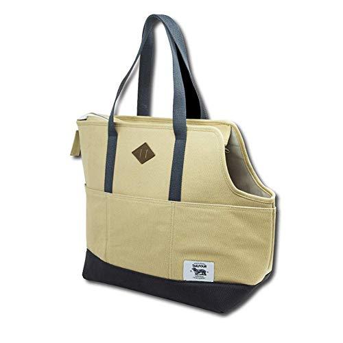 GBY Haustier-Tasche, amerikanischer Stil, einfache Out-Port, tragbar, Leinen, atmungsaktiv, ca. 38 x 36 x 20 cm