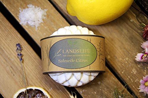 Landseife Bio Salzseife Citrus - Handgefertigte Bio Naturseife