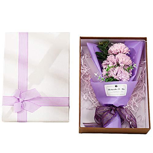 XINYIND XYDZ Jabón Artificial Clavel Regalo Creativo de Clavel en Caja de Regalo de Ramo de Flores de Jabón para Cumpleaños Aniversarios Bodas San Valentín Día de la Madre