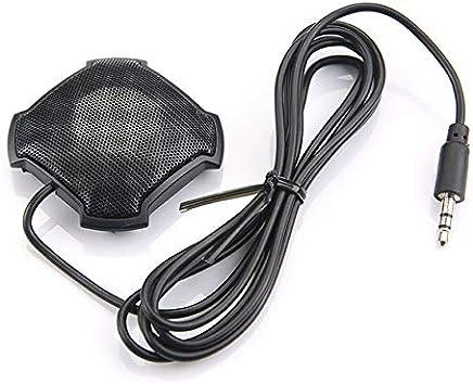 Microfono pickup omnidirezionale Pudincoco con microfono per conferenza a condensatore jack audio da 3,5 mm per Skype VOIP Chiama chat vocale (nero) - Trova i prezzi più bassi