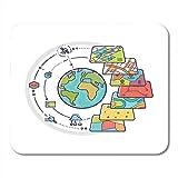 Alfombrillas de ratón Mapa de Capas de Datos espaciales Sig Concepto para análisis Diseño de Sistema de información geográfica Estilo de Revestimiento Alfombrilla de ratón
