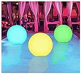 ZHMIAO 3 juegos de playa luminosos de verano, 13 colores, diversión de 40 cm, diversión con nuestra piscina hinchable (pelota de playa)