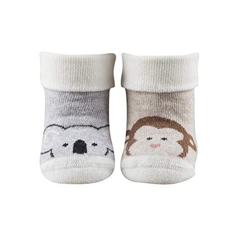 TOM TAILOR Baby Socken 2 Paar mit niedlichen Tiermotiven in schöner Geschenkverpackung, Size:13-15, Farben:off white