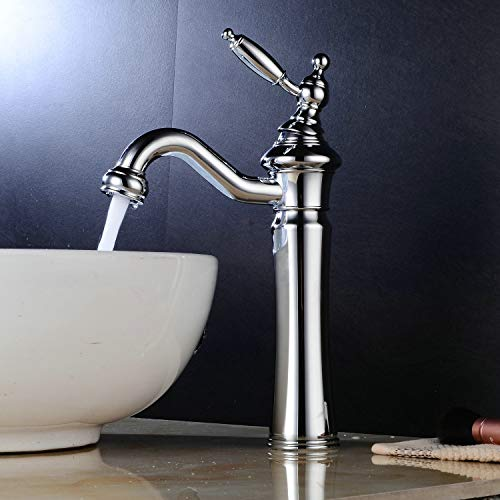 Waschtischarmaturen Bad Waschbecken Wasserhahn Chrom Hohe Körper Einhand Einlochmontage Messing Leekayer,LK6301Hg