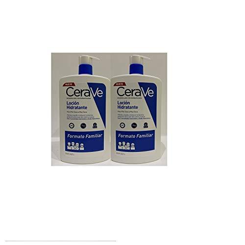pack duplo ceravé locion hidratante familiar (2 envases de 1 l)