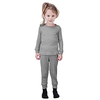 Artic Pole Zero Degree Infant-Girl Thermal Underwear Set (12M, H Grey)