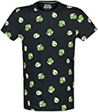 Super Mario Yoshi - Heads Hombre Camiseta Negro M, 100% algodón, Regular